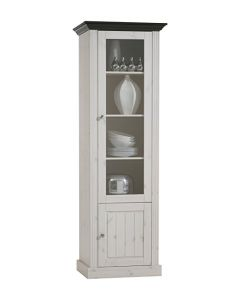 Steens Monaco 1+1 Door Narrow Glazed Display Unit