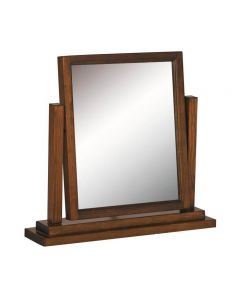 Boston Dressing Table Mirror In Stained Dark Wood