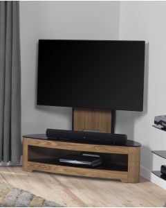 "Jual Furnishings Curve JF209 Oak Cantilever TV Stand with Bracket up to 50"" TVs"