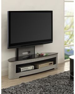 "Jual Furnishings Curve JF209 Grey Ash Cantilever TV Stand With Bracket Up To 50"" TVs"