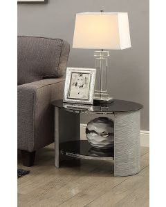 Jual Furnishings JF303 Round Lamp / Side Table - Grey Ash