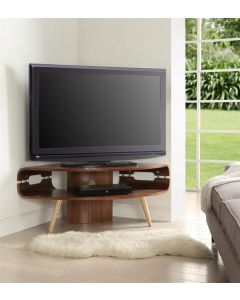 "Jual Furnishings JF701 Large Corner TV Stand for up to 50"" TVs - Walnut for up to 50"" TVs - Walnut"