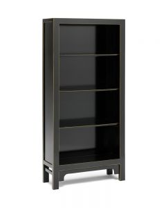 40541 - Baumhaus The Nine Schools Qing Black and Gilt Large Bookcase
