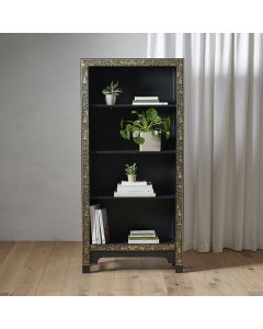 40237 - Baumhaus The Nine Schools Oriental Decorated Black Bookcase