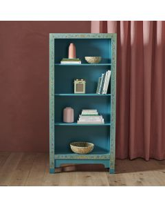 40235 - Baumhaus The Nine Schools Oriental Decorated Blue Bookcase