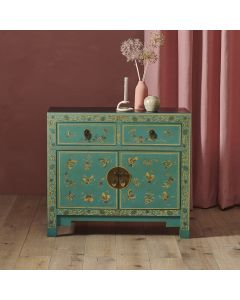 40272 - Baumhaus The Nine Schools Oriental Decorated Blue Sideboard