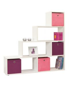 4 You Room Divider / Book Shelf / Display Unit In Pearl White