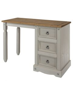 Core Products Corona Grey Washed Single Pedestal Dressing Table