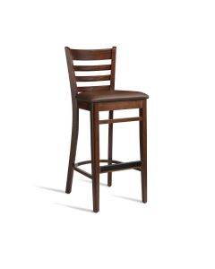 PLUS Bar Stool – ZA.495ST – Dark Walnut – Brown