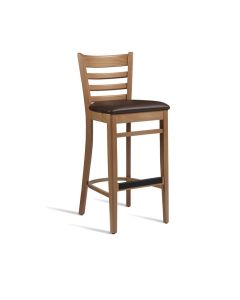 PLUS Bar Stool – ZA.494ST – Light Oak – Brown