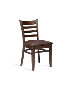 PLUS Side Chair – ZA.468C – Dark Walnut – Brown
