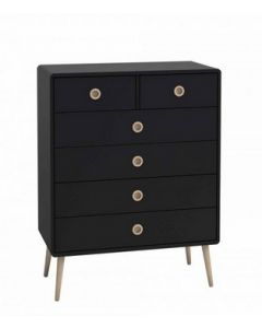 Steens Softline Black 2 Over 4 Chest Of Drawers