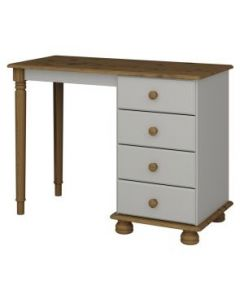 Steens Richmond Grey And Pine Dressing Table/desk