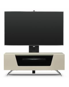 "Chromium 2 Cantilever TV Stand in Ivory For 50"" TVs by Alphason"