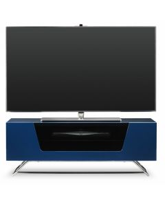 "Chromium 2 TV Stand in Blue For 50"" by Alphason"