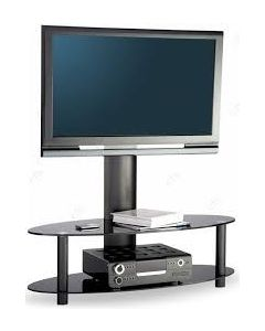 "Accord TV Stand in Black For 50"" TVs by Alphason"