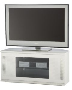 "Arena TV Stand with Built-in Speakers in White for 47"" TVs by Alphason at Price Crash Furniture. Free UK delivery!"