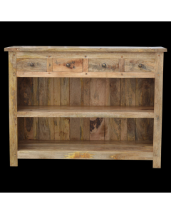 Granary Royale Low Bookcase With 4 Drawers
