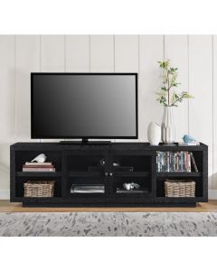 "Bailey TV stand for up to 72"" TVs in black oak by Dorel at Price Crash Furniture"
