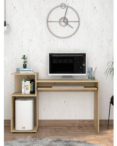 Core Products Brooklyn Desk with Low Shelves in Bleached Pine at Price Crash Furniture. Matching items available