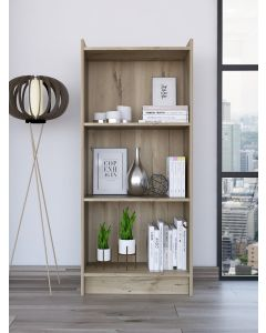 Core Products Brooklyn Low Bookcase with 3 shelves in bleached pine at Price Crash Furniture. Matching items available