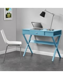 Blue Paxton Desk by Dorel at Price Crash Furniture
