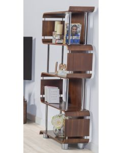 Designer Walnut Bookcase by Jual Furnishings BS201WN