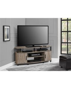 Carson distressed grey oak TV stand at Price Crash Furniture