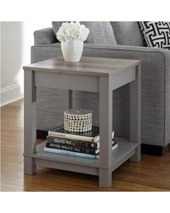 Carver grey and oak side end lamp table at Price Crash Furniture
