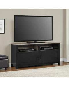 Black and weathered oak Carver 60 inch TV stand at Price Crash Furniture