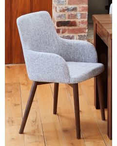 Baumhaus Walnut Light Grey Chair (Pack of two)