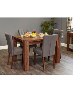 Baumhaus Shiro Walnut Dining Table (4 Seater) - CDR04A