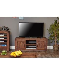 Baumhaus Shiro Walnut Widescreen Television Cabinet - CDR09B