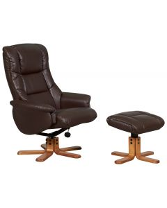 Teknik Chicago Luxury Recliner Nut Brown With Cherry Base