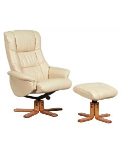 Teknik Chicago Luxury Recliner Cream With Cherry Base
