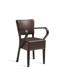 CLUB Arm Chair – ZA.390C – Wenge – Brown