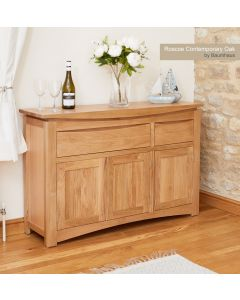 Baumhaus Roscoe Contemporary Oak Large Sideboard