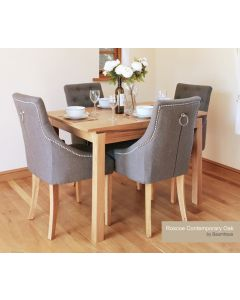 Baumhaus Roscoe Contemporary Oak Small Dining Table (1.2M / 4 seater)