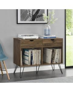Concord 2 drawer turntable and record stand at Price Crash Furniture