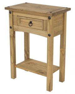 Core Corona Pine 1 Drawer Hall Table With Shelf