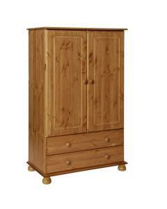 Copenhagen 2 Door 2 Drawer Combi Wardrobe in Pine