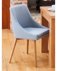 Baumhaus Oak Grey Chair (Pack of two)