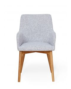 Baumhaus Oak Light Grey Chair (Pack of two)