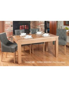 Baumhaus Mobel Hidden Extending Oak Dining Table (Seats 4-8)