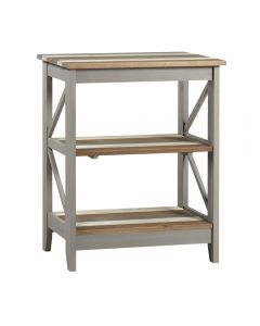 Core Products Corona Vintage Grey Wax Pine Wide 3 Tier Shelf Unit