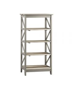 Core Products Corona Vintage Grey Wax Pine Wide 5 Tier Shelf Unit