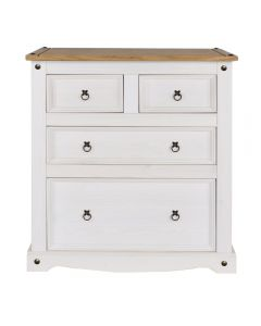 Core Products Corona White Washed Wax Effect Pine 2+2 Drawer Chest