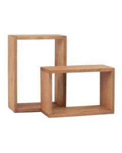Core Products Corona Antique Wax Pine Wall Cube Pair