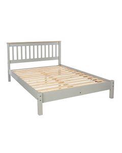 "Core Products Corona Grey 4ft 6"" Low End Double Bed Frame at Price Crash Furniture.Matching items available."