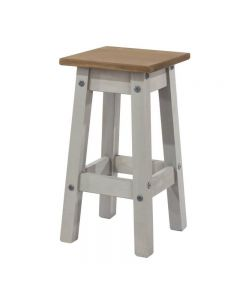 Core Products Corona Grey Washed Low Kitchen Stool
